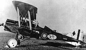 25th Aero Squadron - Austin-built 25th Aero Squadron British  S.E.5a, British s/n F8009, with 200 hp Wolseley Viper engine,  Gengault Aerodrome, Toul, France, November 1918