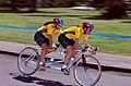 261000 - Cycling road Lynette Nixon Lyn Lepore action 2 - 3b - 2000 Sydney race photo.jpg