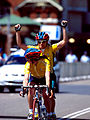 261000 - Cycling road Lynette Nixon Lyn Lepore celebrate - 3b - 2000 Sydney race photo.jpg