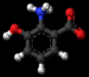 3-Hydroxyanthranilic acid - Image: 3 Hydroxyanthranilic acid zwitterion 3D balls