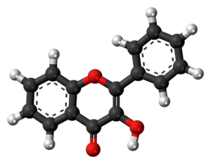 3-Hydroxyflavone - Image: 3 Hydroxyflavone 3D balls