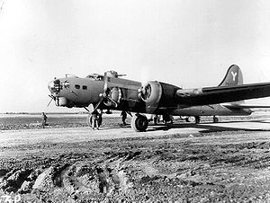 301st Operations Group - B-17G of the 301st BG at an airfield in North Africa, 1943