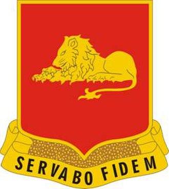 33rd Field Artillery Regiment - Image: 33 FA Rgt DUI