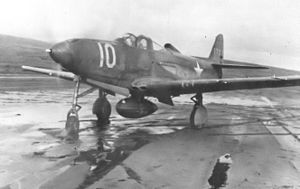 Naval Air Facility Adak - 42d Fighter Squadron P-39E Airacobra at Adak AAF