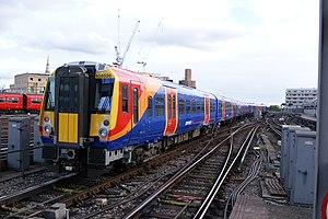 British Rail Class 458 - Class 458 leaving London Waterloo in 2015