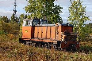 750 mm gauge railways - TU8 diesel locomotive in Arkhangelsk Oblast, Russia