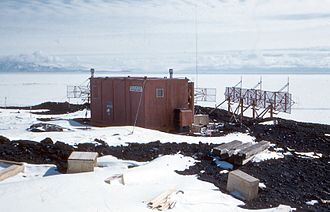 Arrival Heights - Auroral radar installed at Arrival Heights, circa 1959
