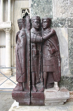 "Philadelphion - The two statue groups of the ""Tetrarchs"", possibly originally located at the Philadelphion"