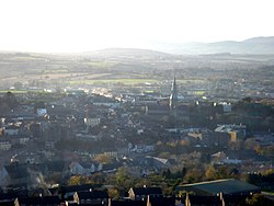 Enniscorthy from nearby Vinegar Hill