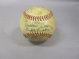 USS Asheville (PG-21) - A baseball used in a game between Asheville crew members and a team from the 2nd Fleet (August 20th 1938)