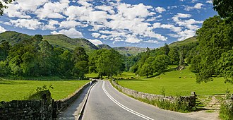 Lake District - The A591 road as it passes through the countryside between Ambleside and Grasmere