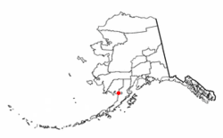 Location of Naknek, Alaska的位置