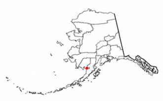 Naknek, Alaska - Image: AK Map doton South Naknek