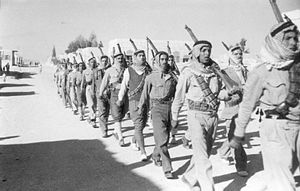 Arab Liberation Army - ALA on parade. 1948