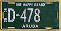 ARUBA 2008 -D PREFIX, GOVERNMENT LICENSE PLATE - Flickr - woody1778a.jpg