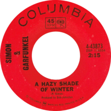 A Hazy Shade of Winter by Simon & Garfunkel US vinyl.png