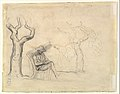 A Man Reading in a Garden (recto); Preliminary sketch for a Man Reading in a Garden (verso) MET DP824212.jpg