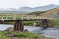 A bridge across Fjardará at Loðmundarfjörður, taken from Víknaslóðir Trail in Eastern fjords, Iceland 08.jpg