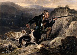 Poľovník na historickej kresbe