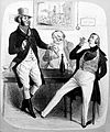 A huntsman, a dandy and another man drinking in a tavern Wellcome L0020219.jpg