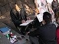 A quick sketch portrait artist in Ueno, Tokyo 2005-11-09 b.jpg