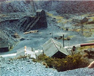 Cable railway - Aberllefenni Slate Quarry with a water balance incline in the background