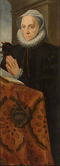 Abraham de Rycke - Portrait of Marie le Batteur praying.JPG