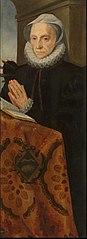 Portrait of Marie le Batteur praying