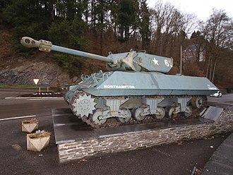 """17pdr SP Achilles - """"Achilles"""" Self-Propelled Gun M10 at La Roche-en-Ardenne, Belgium"""