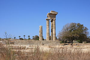Acropolis of Rhodes Temple.JPG