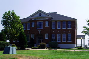 Sheridan, Arkansas - Historic Sheridan Schools Administration Building along US 167