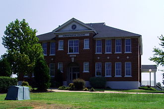 Sheridan, Arkansas - Historic Sheridan Schools Administration Building along US 167