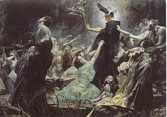 Melinoë - The Souls of Acheron (1898) by Adolf Hirémy-Hirschl