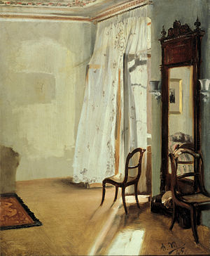 Adolph Menzel - Balcony Room, 1845.