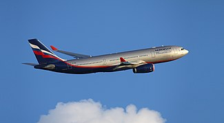 Aeroflot A330-200 after taking off from Sheremetyevo Airport in 2011