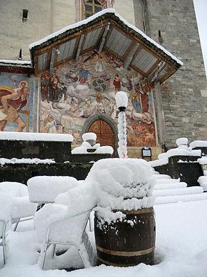 Riva Valdobbia - The  Universal Judgement fresco on Saint Micheal parish church.
