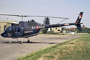 1992 European Community Monitor Mission helicopter downing - An Italian Army Agusta-Bell AB-206 similar to the one involved in the incident