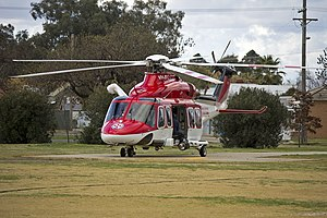 AgustaWestland AW139 (VH-SYZ) operated by Lloyd Off-Shore Helicopters for Ambulance Service of New South Wales as Rescue 24 at the Duke of Kent Oval Helipad (4).jpg
