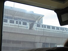 Two car AirTrain at Federal Circle.