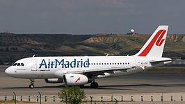 Een Airbus A319-100 van Air Madrid