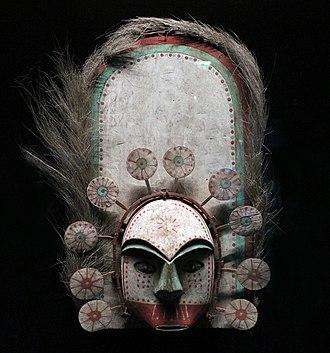 Tribal art - Image: Alaska, yup'ik, maschera giimaquq, xix secolo