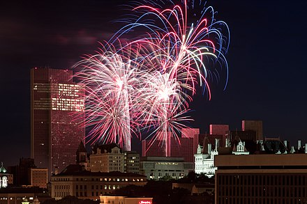 Price Chopper sponsors the annual Fourth of July fireworks show at the Empire State Plaza (2009 show pictured). Albany July 4th Paul Gallo.jpg