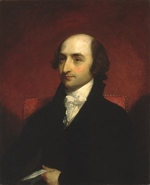 Albert Gallatin - Portrait of Albert Gallatin by Gilbert Stuart (ca. 1803)