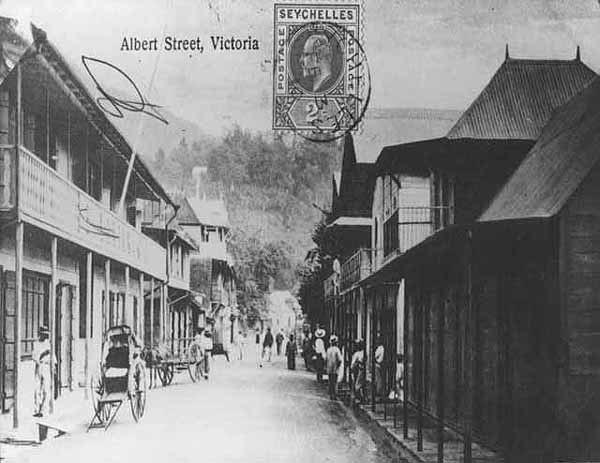 Albert Street Victoria Seychelles 1900s