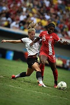 Alemanha x Canadá - Futebol feminino - Olimpíadas Rio 2016 (28774124982).jpg