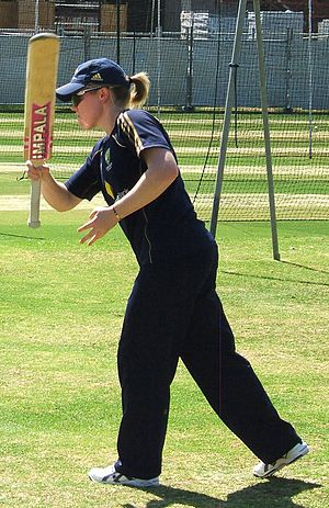 Alex Blackwell - Blackwell hitting a ball for catching practice in the Adelaide Oval nets.