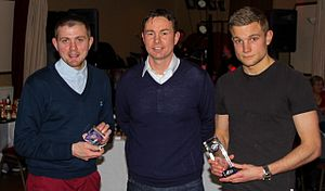 Alex Cooper (footballer) - Cooper winning the Young Player of the Year award at Ross County F.C.