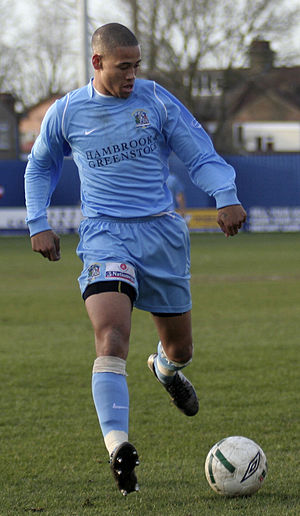Alex Rhodes (footballer) - Rhodes playing for Grays Athletic in March 2007
