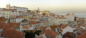 View of Alfama from the Miradouro of Santa Luz...