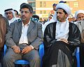 Ali Abbas -left- and Cleric Ali Salman during a pro-democracy sit-in in Muqsha'a.JPG